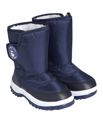 Navy Cozy Snow Boot
