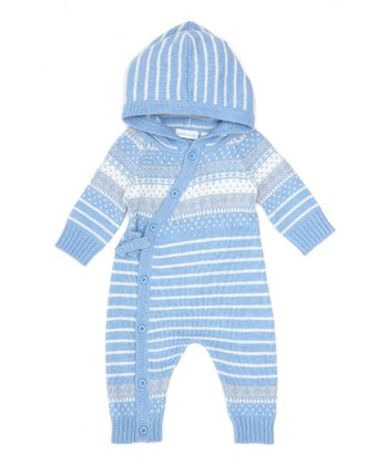 Blue Fair Isle Sweater Playsuit - Infant