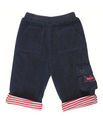 Navy Corduroy Cargo Pants - Infant