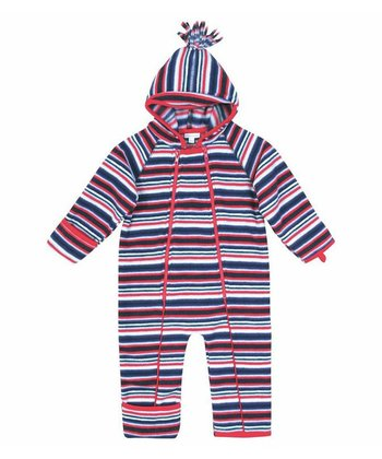 Red & Navy Nautical Stripe Fleece Bunting - Toddler
