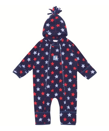 Navy & Red Star Fleece Bunting - Infant & Toddler