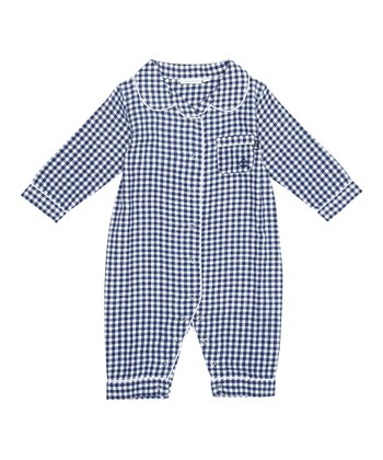 Navy Gingham Playsuit - Infant & Toddler
