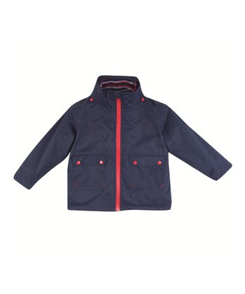 Navy Nautical Stripe 4-in-1 Jacket - Infant, Toddler & Kids