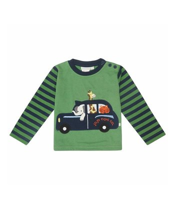 Green Stripe Taxi Tee - Infant, Toddler & Kids