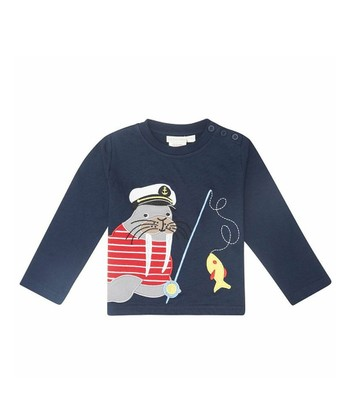 Navy Walrus Tee - Infant, Toddler & Kids