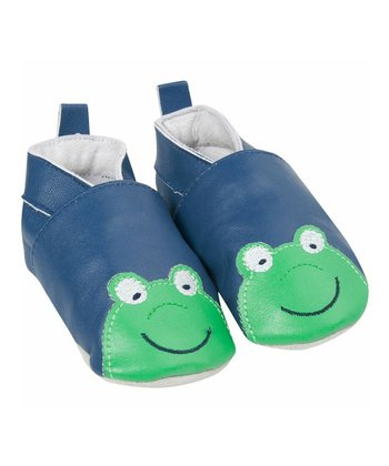 Blue Frog Leather Booties