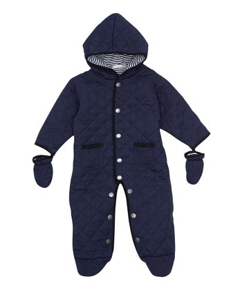 Navy Quilted Bunting - Infant