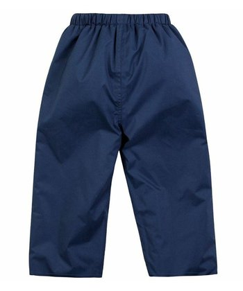 Navy Fleece-Lined Waterproof Pants - Infant, Toddler & Kids