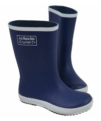 Navy Wellie Rain Boot
