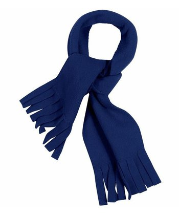 Navy Fleece Scarf