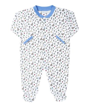 White Cowboy Footie - Infant