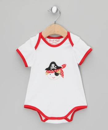White Pirate Bodysuit - Infant