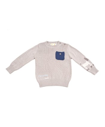 Beige Poodle Pocket Sweater - Toddler