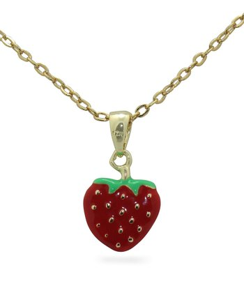 Gold Strawberry Necklace