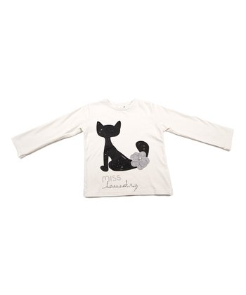 White Cat Tee - Toddler & Girls