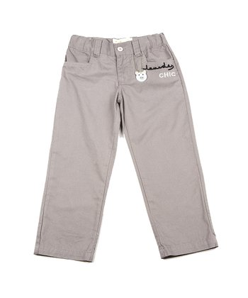 Light Gray 'Chic' Pants - Toddler & Boys