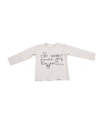 Gray 'Cat Rabbit Panda' Tee - Infant, Toddler & Girls