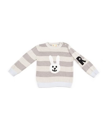 Gray Stripe Rabbit Sweater - Infant & Toddler