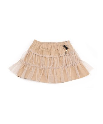 Tan Tulle Tiered Skirt - Infant, Toddler & Girls
