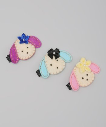 Pink & Blue Puppy Clip Set