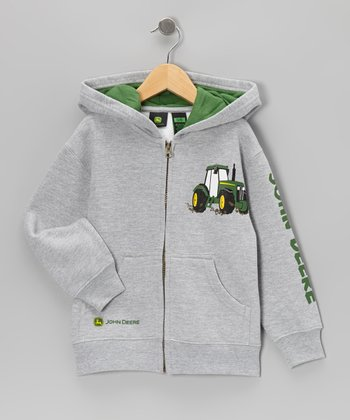 Heather Gray Fleece Zip-Up Hoodie - Boys