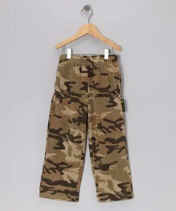 Green Camouflage Pants - Boys