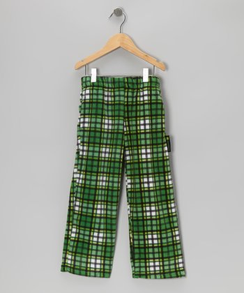 Green Plaid Pants - Boys