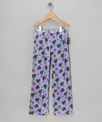 Light Purple Tractor Pants - Girls