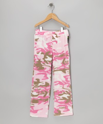 Pink Camouflage Pants - Girls