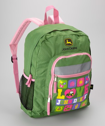 Green & Pink 'Love' Backpack