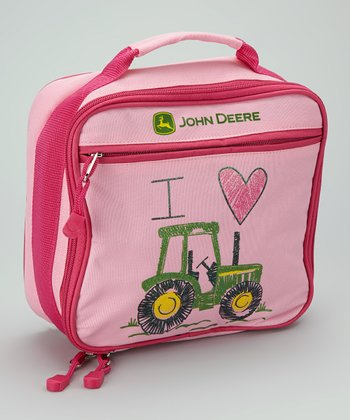 Pink Tractor Lunch Box