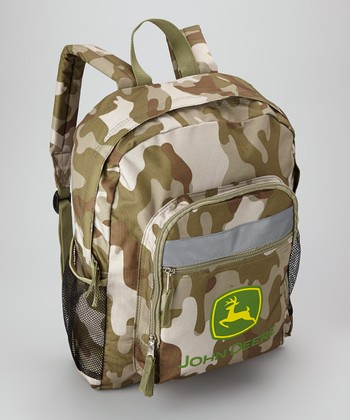 Green Camouflage Backpack
