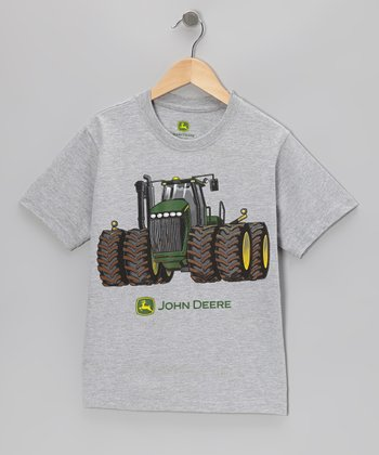 Heather Gray Tee & Tractor - Kids