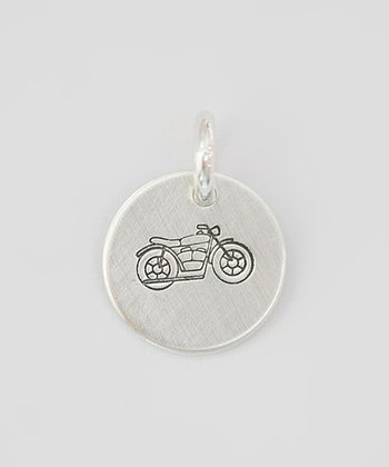 Sterling Silver Motorcycle Charm