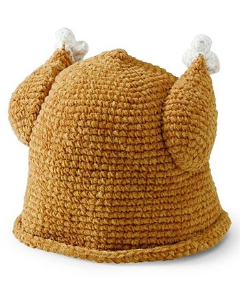 Brown Knit Turkey Beanie