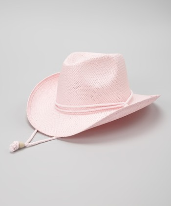 Light Pink Woven Cowgirl Hat