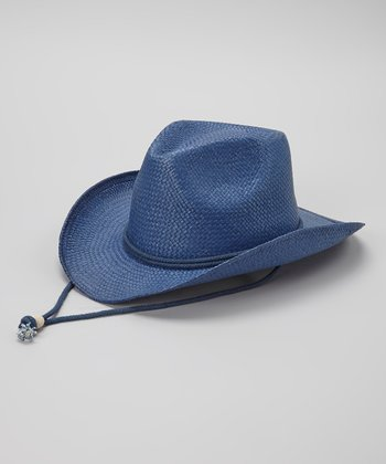 Navy Woven Cowgirl Hat