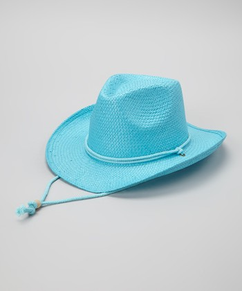 Turquoise Woven Cowgirl Hat