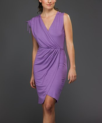Lilac Surplice Dress