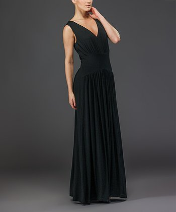 Black Sleeveless Maxi Dress