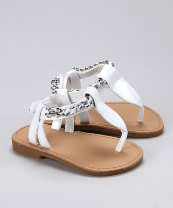 White Patent Kimber Sandal - Toddler & Girls