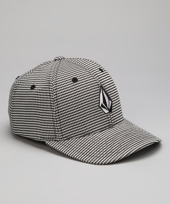 Gray Houndstooth Full Stone Flexfit Baseball Cap