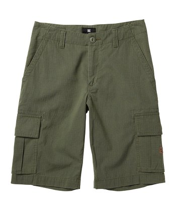 Military Green Deploy Walk Shorts - Toddler & Boys