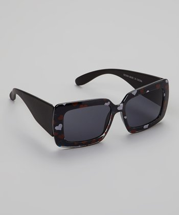 Black Heart Square Sunglasses