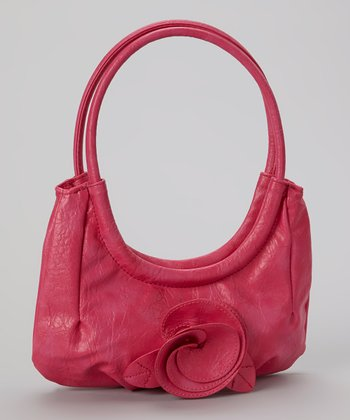 Pink Flower Shoulder Bag