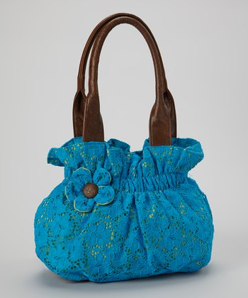 Blue Lace Flower Tote