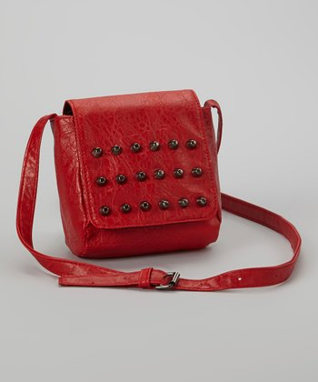 Red Stud Crossbody Bag