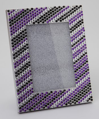 Purple & Black Rhinestone Stripe Frame