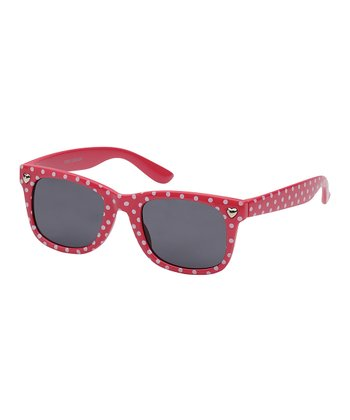 Pink Polka Dot Square Sunglasses