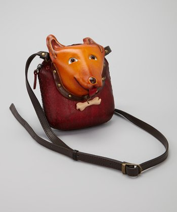 Brown Terrier Leather Crossbody Bag